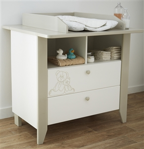 Komoda z przewijakiem 70x55 2s ourson - Table a langer commode pas cher ...